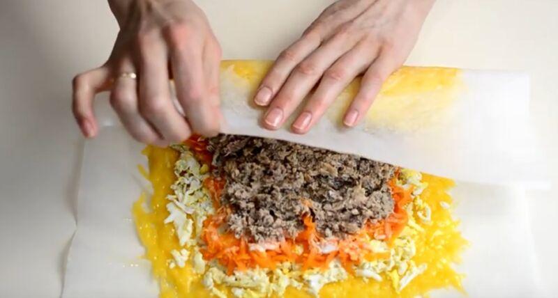 Салат мимоза с минтаем