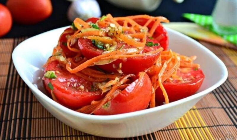 Помидоры по-корейски быстрого приготовления — самые вкусные рецепты