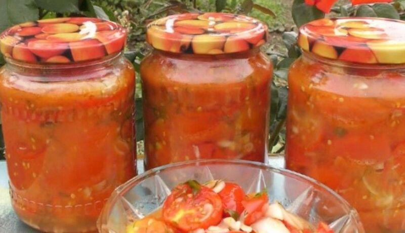 Салат из помидоров на зиму — самые вкусные заготовки из помидор. Пальчики оближешь!
